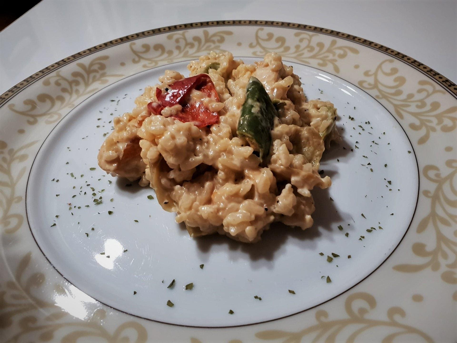 Rižoto s paprikom i piletinom